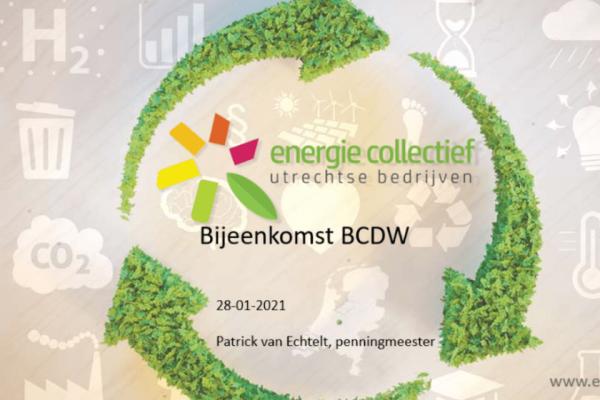 ECUB Presentatie Voor Leden BCDW